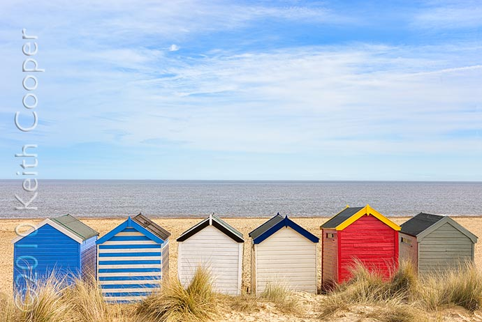 Southwold beach huts, Suffolk