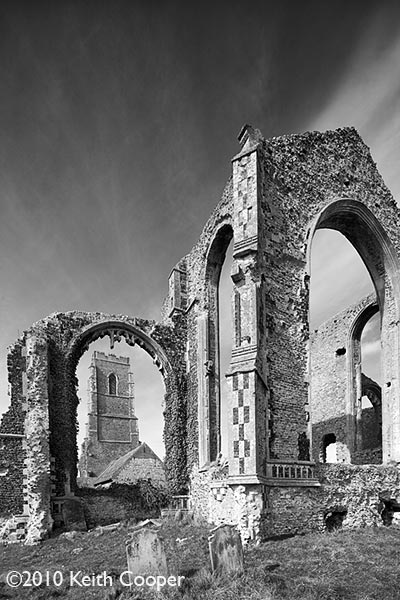 ruins at Covehithe, Suffolk, England