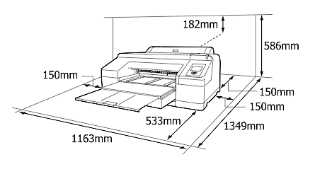 Epson sp4900 dimensions and space required
