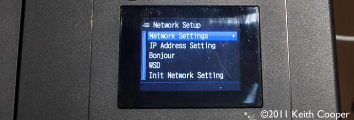 front panel network settings