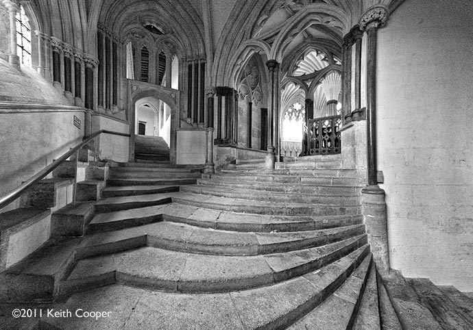 Chapter House steps Wells Cathedral, UK