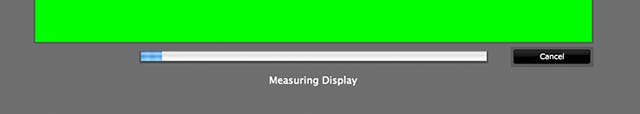 screen calibration measurements