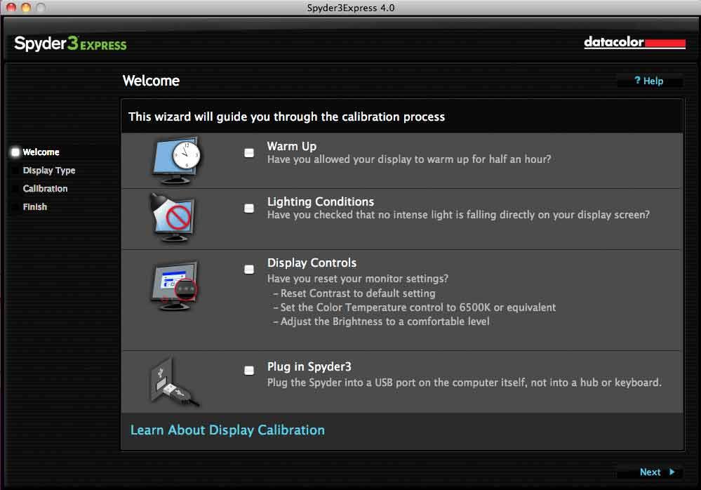 spyder 3 express software mac