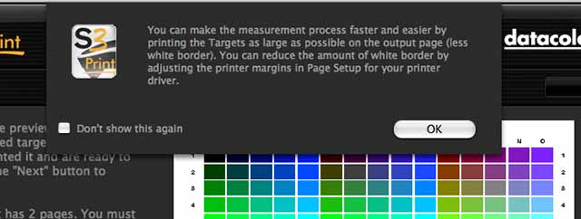 optimising target print sizes