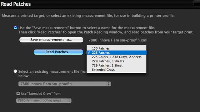 choosing the measurement file format