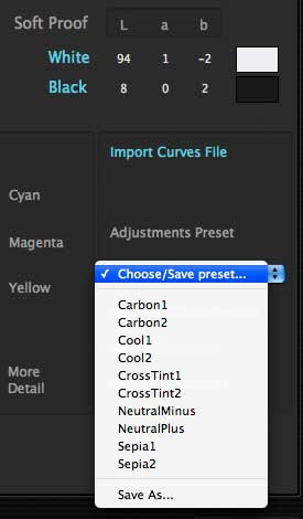 preset options