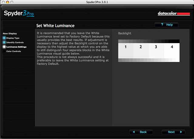 set white luminance