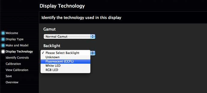 display technology choices