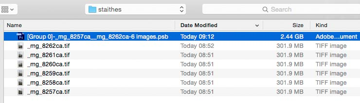 file sizes for images