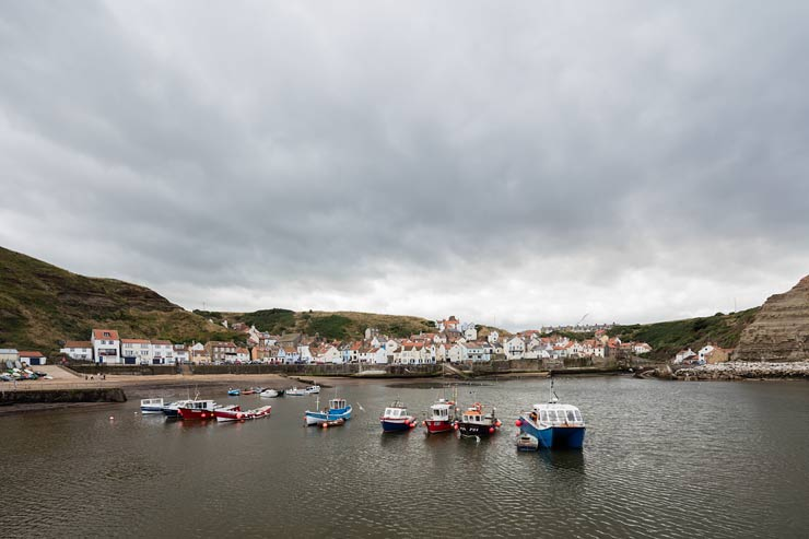 view of staithes harbour