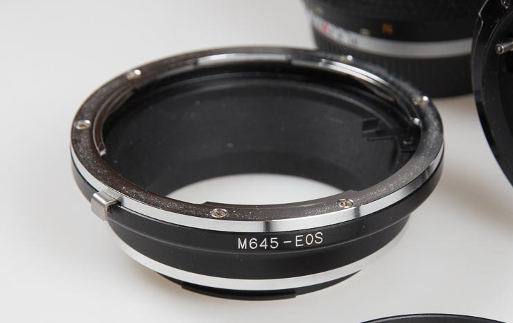 M645 to Canon EF adapter