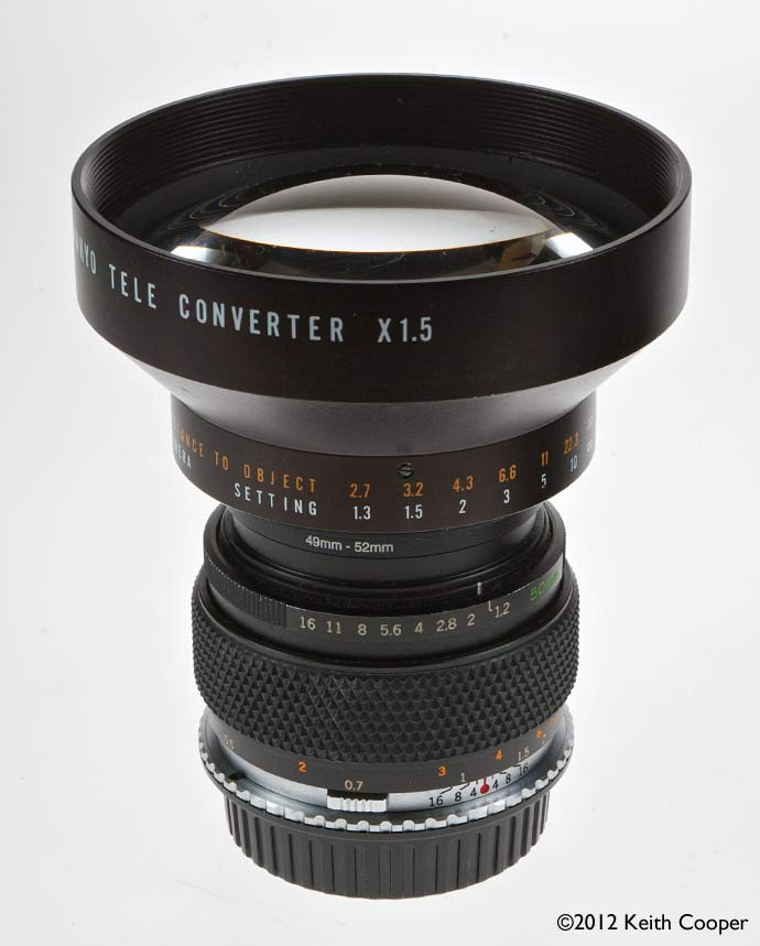 1.5x teleconverter on 50mm lens