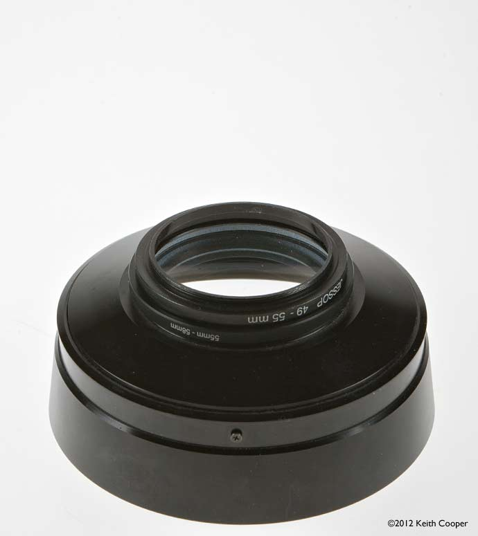 attaching main lens to converter unit