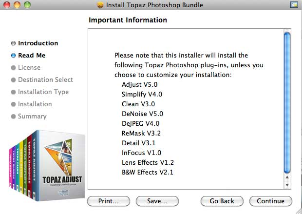 Installing the bundle of plugins