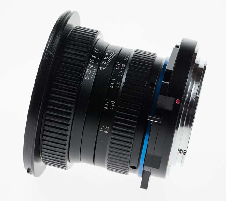 side view of lens with 6mm shift