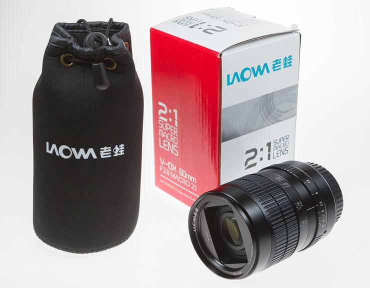 laowa 60mm with bag and box