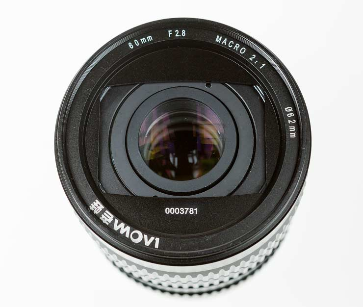 lens front element for macro use