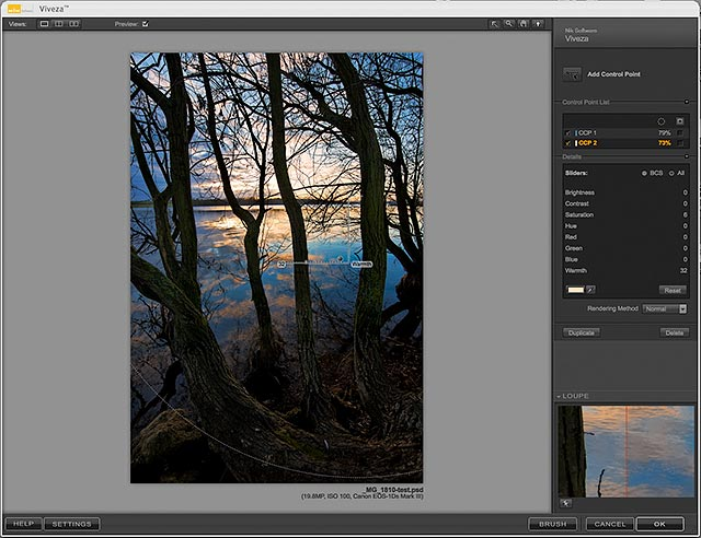 adding warmth to images