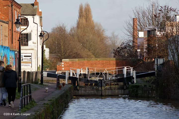 canal lock gates in Leicester