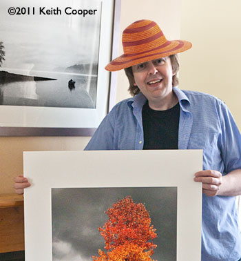 photographer wearing orange hat
