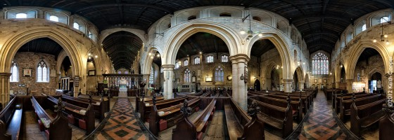 St Mary de Castro - full 360 degree view of the interior