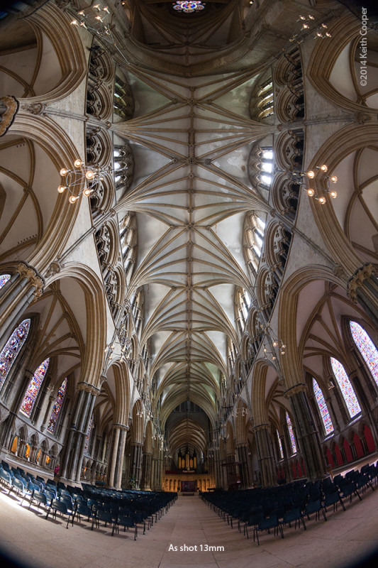 Inside Lincoln cathedral - wide view