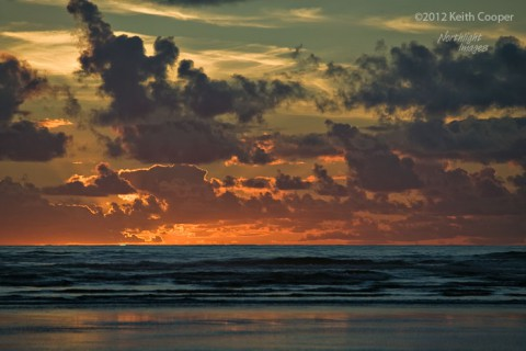 Pacific sunset colours