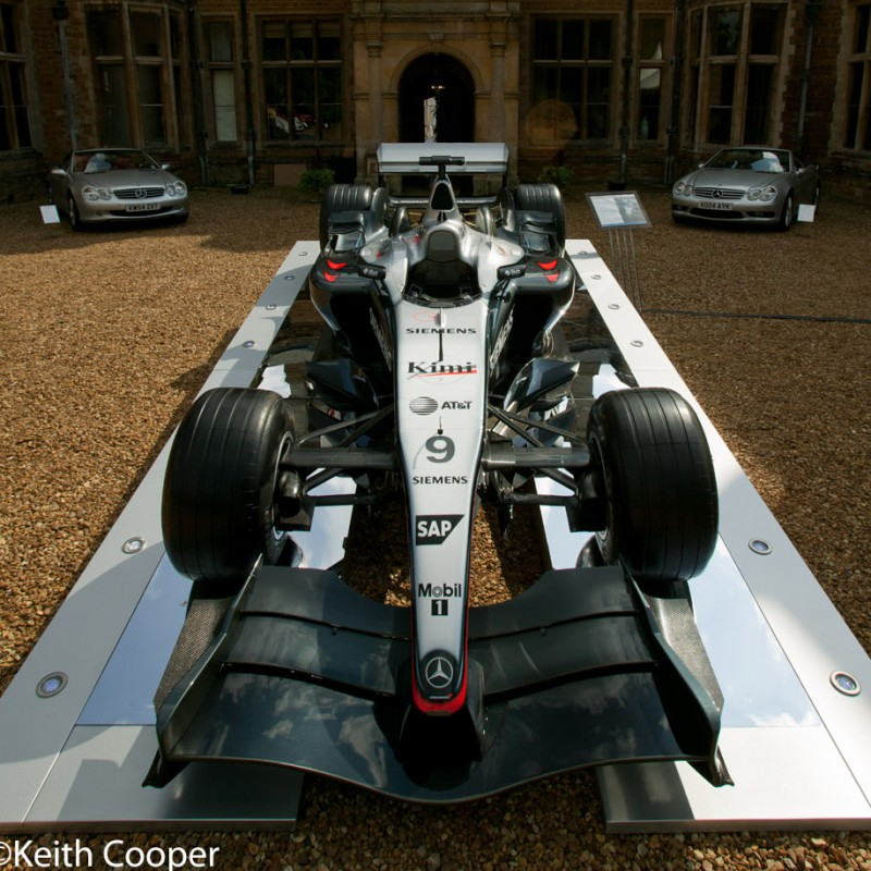Formula One car at country house event