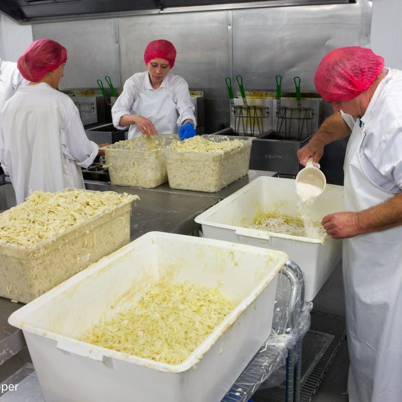 Food preparation - making onion bhajis
