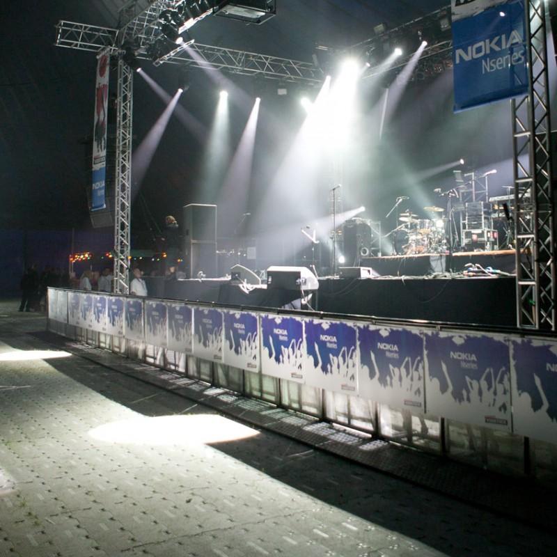 Stage setup at Vodstock event
