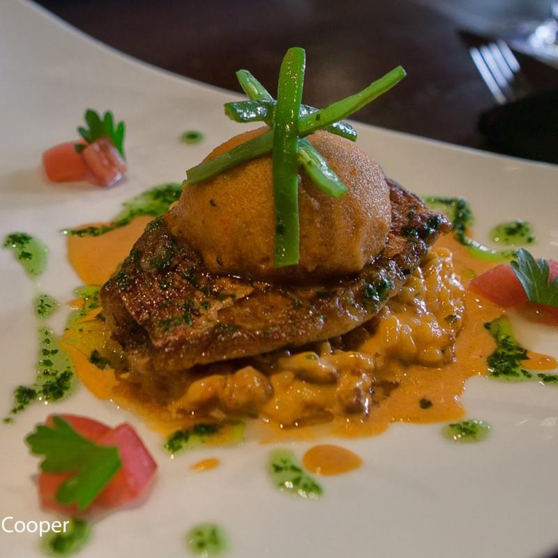 Restaurant food presentation