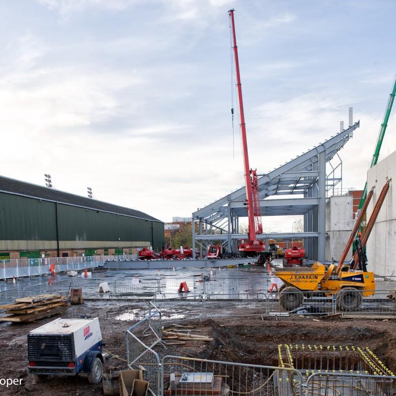 Steelwork, sports stadium