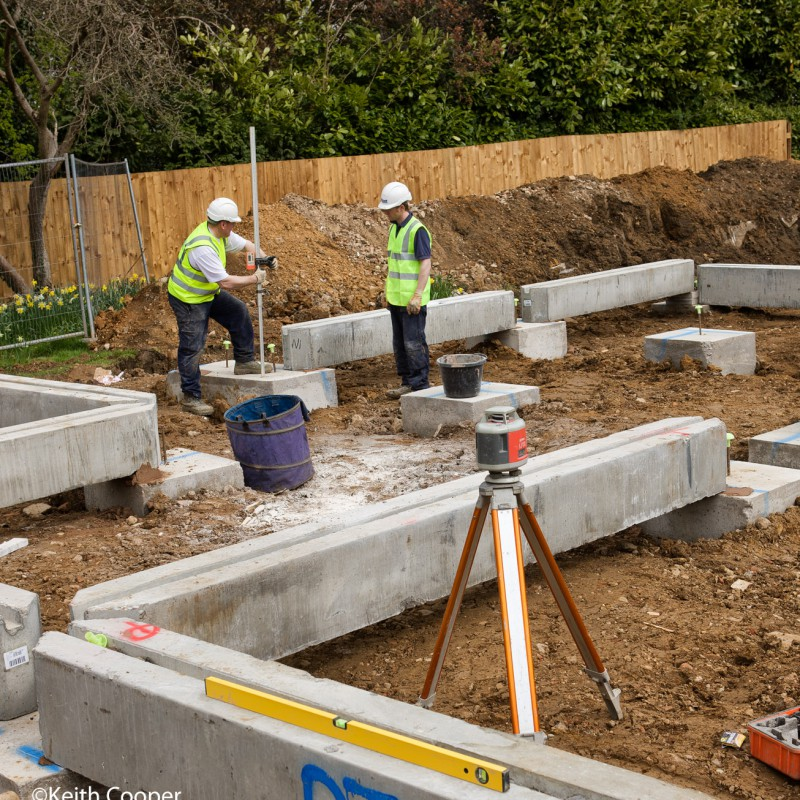 Setting building foundations