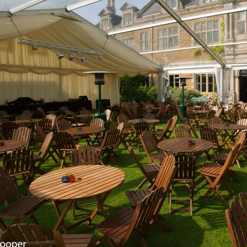 Outdoor event area at country house