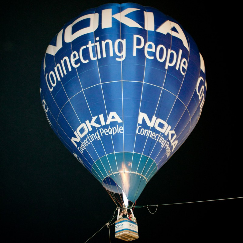 Balloon at corporate event