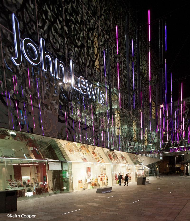 John Lewis at night
