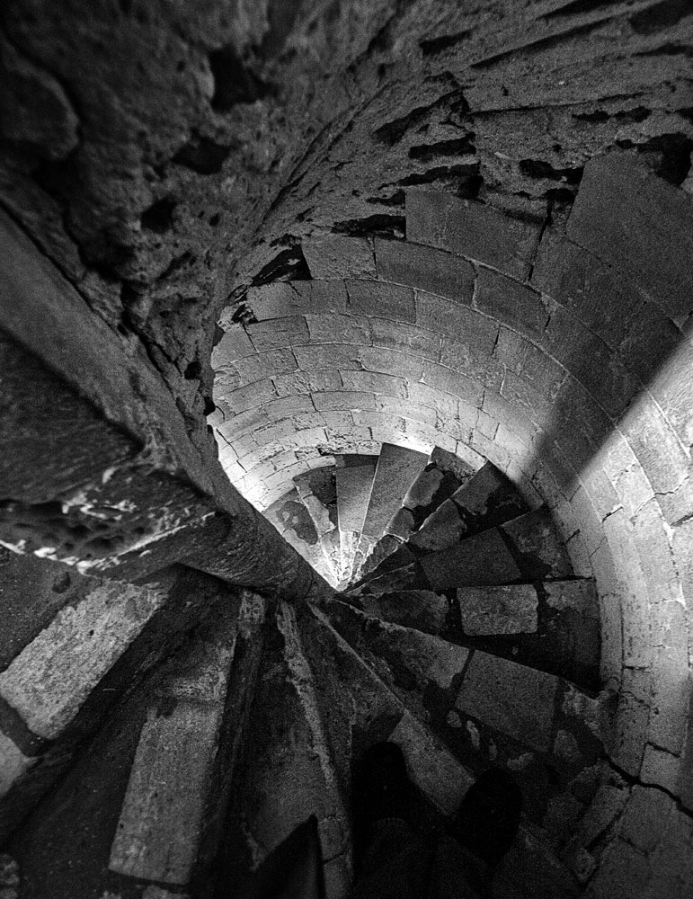 stone steps at orford castle