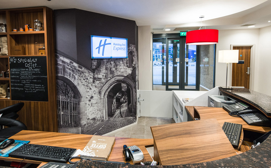 Large print supplied for wall decoration at hotel reception