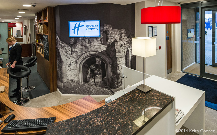 Large print supplied for wall decoration - hotel reception