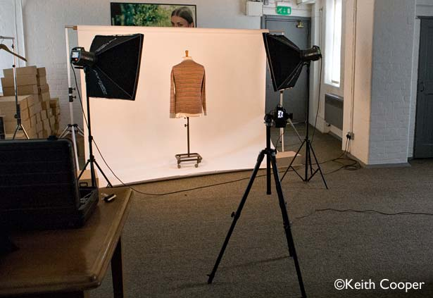 photographing clothing