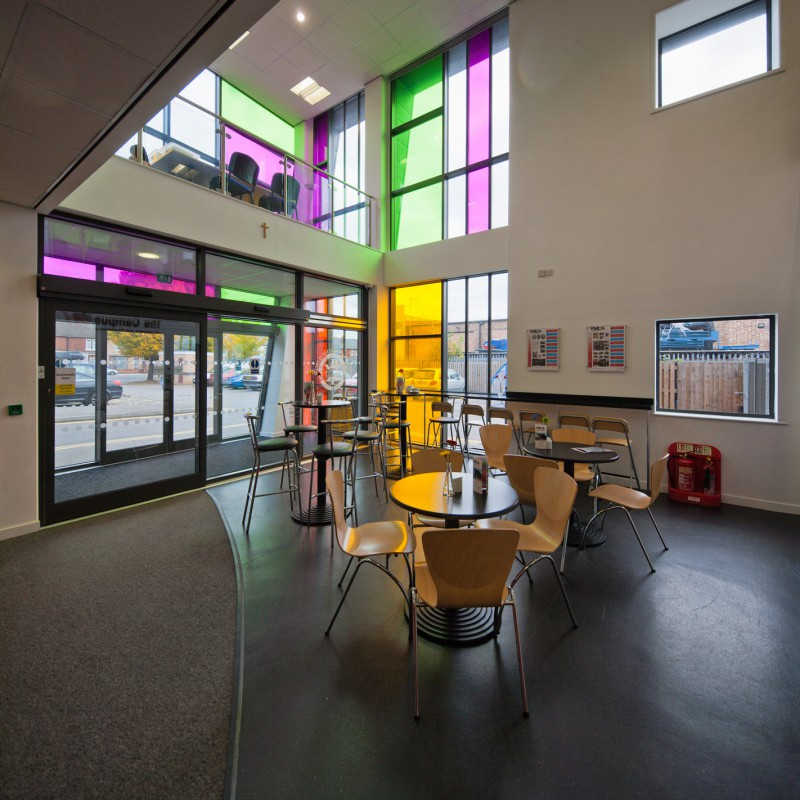 Foyer Stairs Ymca : Uk interior photography