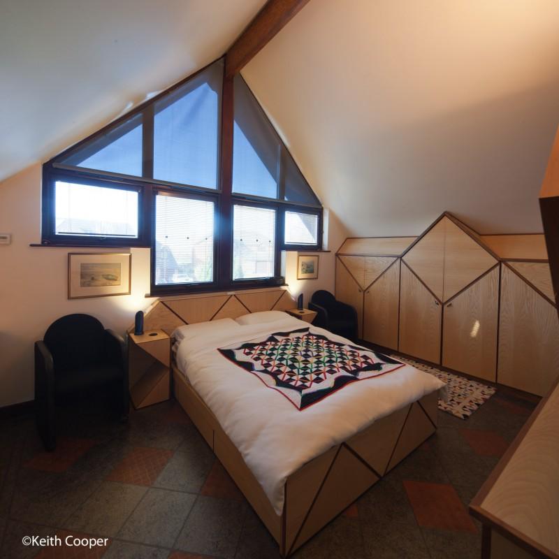 Bedroom and gable window