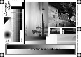 specialist monochrome test image for print