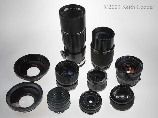 assorted lenses