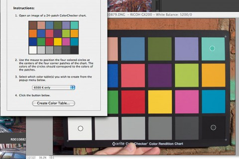 Adobe Camera Raw DNG profiles from a ColorChecker card