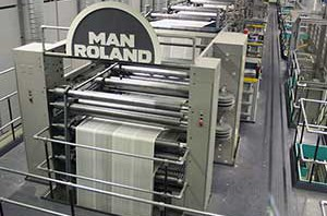 Large commercial printing press