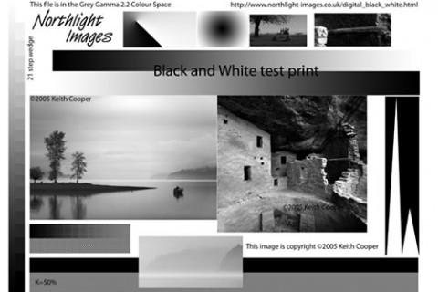 Black and white photo printing