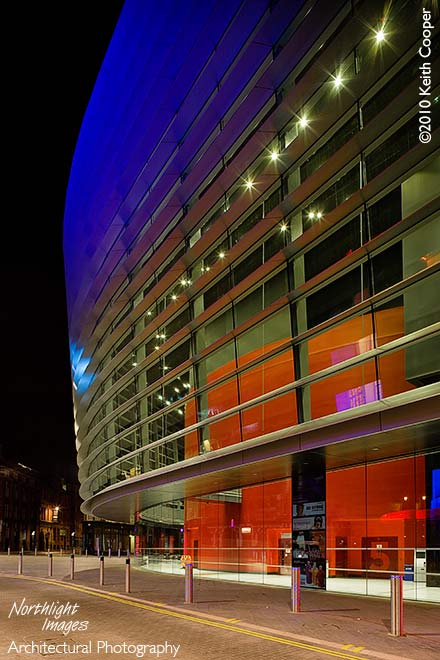 curve side view at night
