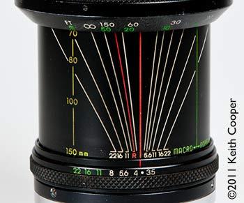lens dof lines