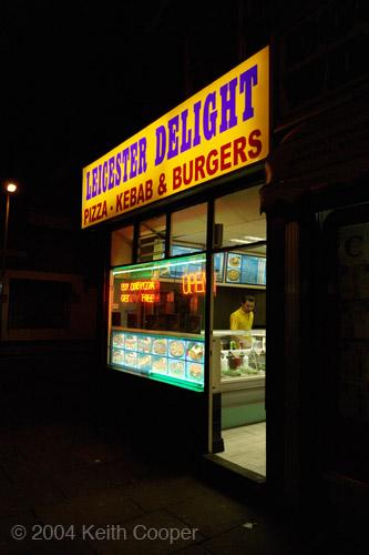 kebab shop at night
